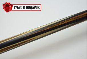 Бильярдный кий ручной работы Корона-Лотос бокоте, эбен купить в интернет-магазине БильярдМастер Украина
