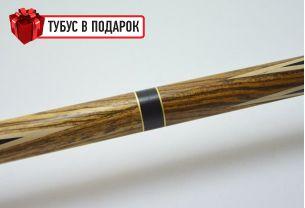 Бильярдный кий ручной работы Корона-4 бокоте, черный граб купить в интернет-магазине БильярдМастер Украина