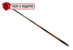 Бильярдный кий ручной работы Тюльпан черный граб, белинга, черный шафт купить в интернет-магазине БильярдМастер Украина
