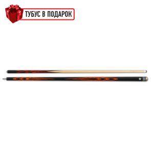 Бильярдный кий ручной работы Тюльпан черный граб, паддук купить в интернет-магазине БильярдМастер Украина