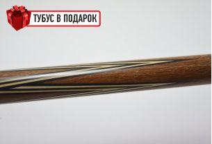 Бильярдный кий ручной работы Тюльпан сукупира, черный граб купить в интернет-магазине БильярдМастер Украина