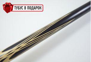 Бильярдный кий ручной работы Тюльпан черный граб купить в интернет-магазине БильярдМастер Украина