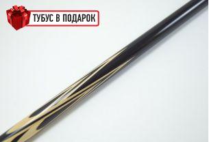Бильярдный кий Тюльпан-Паутина черный граб+черный шафт купить в интернет-магазине БильярдМастер Украина