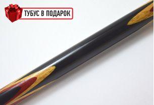 Бильярдный кий Тюльпан черный граб, паддук, мовинга купить в интернет-магазине БильярдМастер Украина