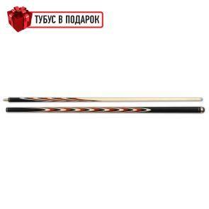 Бильярдный кий ручной работы Классик 6+12 черный граб, паддук, трехцветный купить в интернет-магазине БильярдМастер Украина