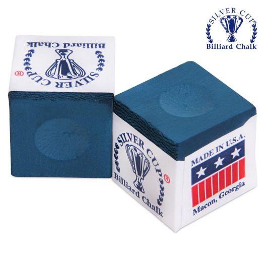 Бильярдный мел Silver Cup синий купить в интернет-магазине БильярдМастер Украина