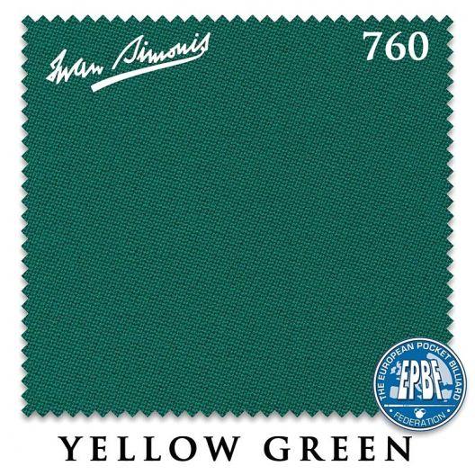 Сукно для бильярда Iwan Simonis 760 Yellow Green 195 см. купить в интернет-магазине БильярдМастер Украина