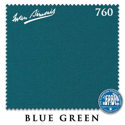 Сукно для бильярда Iwan Simonis 760 Blue Green 195 см. купить в интернет-магазине БильярдМастер Украина
