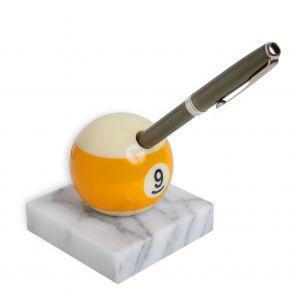 Бильярдный сувенир подставка для ручки №9, мрамор купить в интернет-магазине БильярдМастер Украина