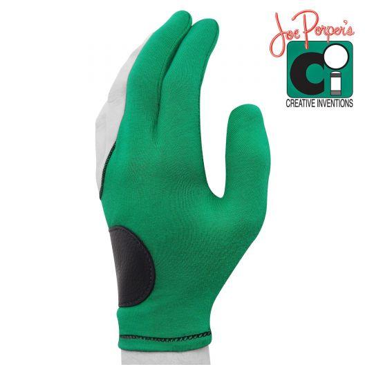 Бильярдная перчатка Joe Porper's зеленая с кожаной вставкой купить в интернет-магазине БильярдМастер Украина