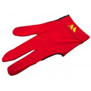 Бильярдная перчатка WB красная с защитой от скольжения купить в интернет-магазине БильярдМастер Украина