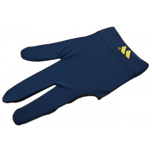 Бильярдная перчатка WB синяя с защитой от скольжения купить в интернет-магазине БильярдМастер Украина