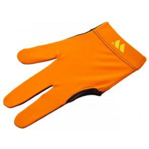 Бильярдная перчатка WB оранжевая с защитой от скольжения купить в интернет-магазине БильярдМастер Украина
