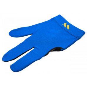 Бильярдная перчатка WB голубая с защитой от скольжения купить в интернет-магазине БильярдМастер Украина