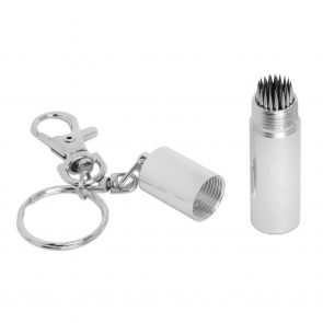 Брелок с перфоратором для наклейки Tip-Pik Silver купить в интернет-магазине БильярдМастер Украина