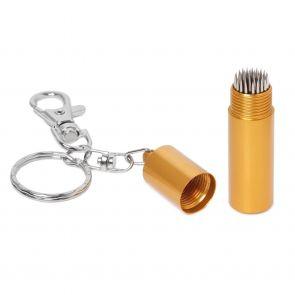 Брелок с перфоратором для наклейки Tip-Pik Gold купить в интернет-магазине БильярдМастер Украина