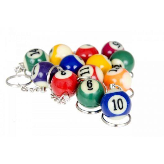 Брелок бильярдный шар Pool от 1 до 15, 25 мм. купить в интернет-магазине БильярдМастер Украина
