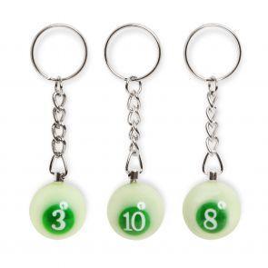 Брелок бильярдный шар Emerald от 1 до 15, 25 мм. купить в интернет-магазине БильярдМастер Украина