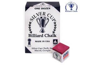 Бильярдный мел Silver Cup красный купить в интернет-магазине БильярдМастер Украина