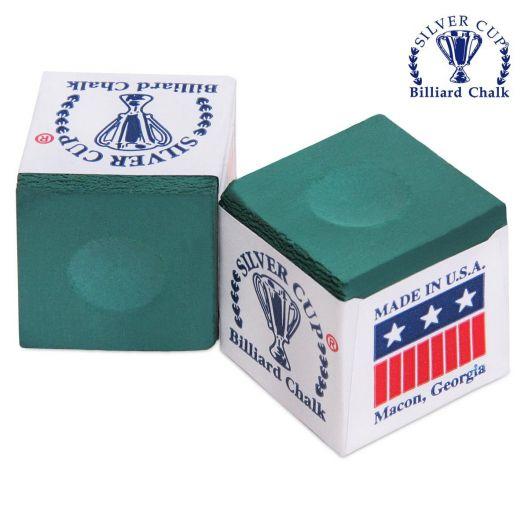 Бильярдный мел Silver Cup зеленый купить в интернет-магазине БильярдМастер Украина