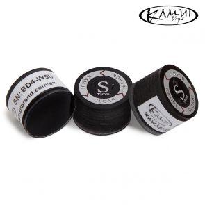 Наклейка для кия Kamui Clear Black S 13 мм купить в интернет-магазине БильярдМастер Украина