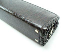 Кейс для кия Cofr Croco темно-коричневый купить в интернет-магазине БильярдМастер Украина