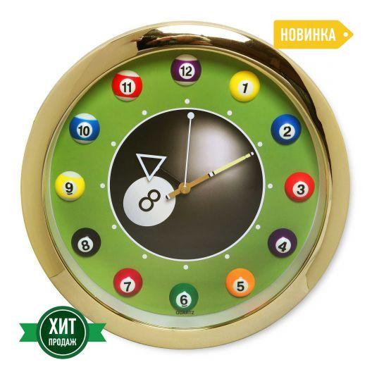 Часы для бильярда Pool Balls Gold...