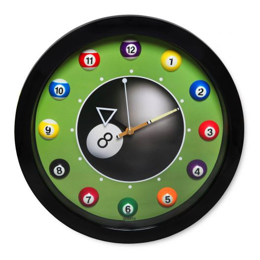 Часы для бильярда Pool Balls Black...