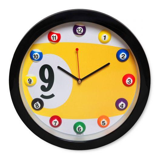 Часы для бильярда Pool Balls Yellow...