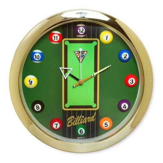 Часы для бильярда Pool Table Gold...