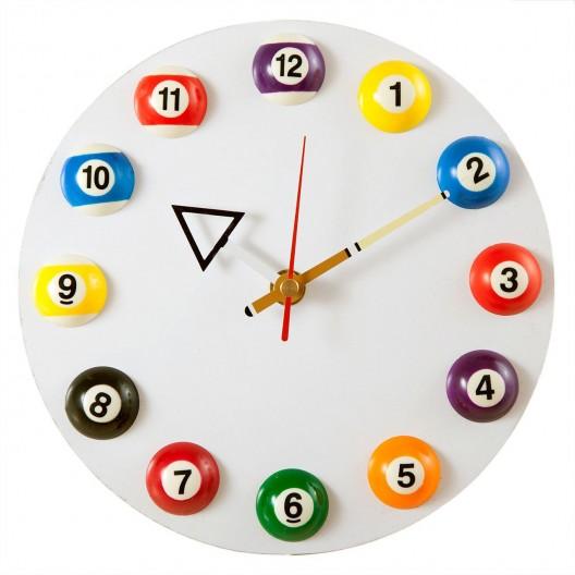Часы для бильярда 12 шаров белые...