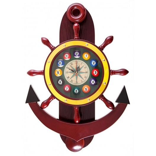 Часы для бильярда Якорь деревянные