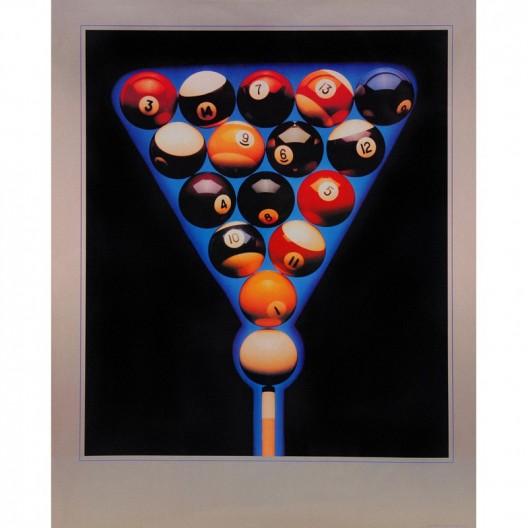 Постер для бильярда Balls in Blue...