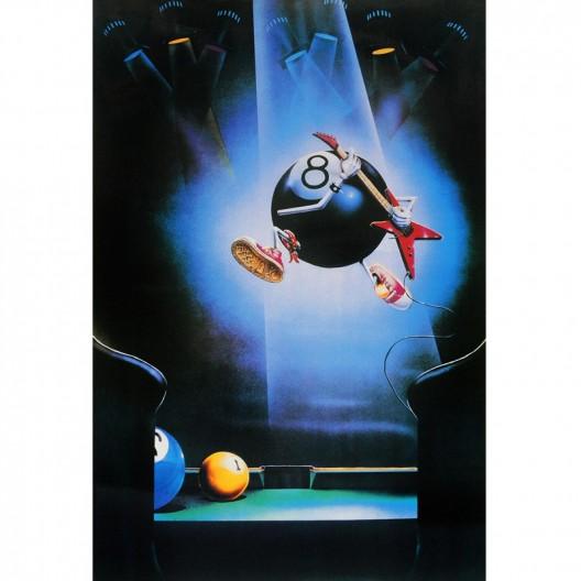 Постер для бильярда Flying Eight,...