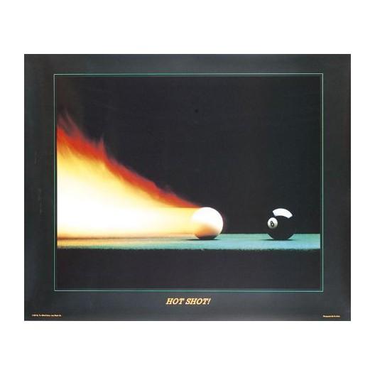 Постер для бильярда Hot Shot, 77x62см.