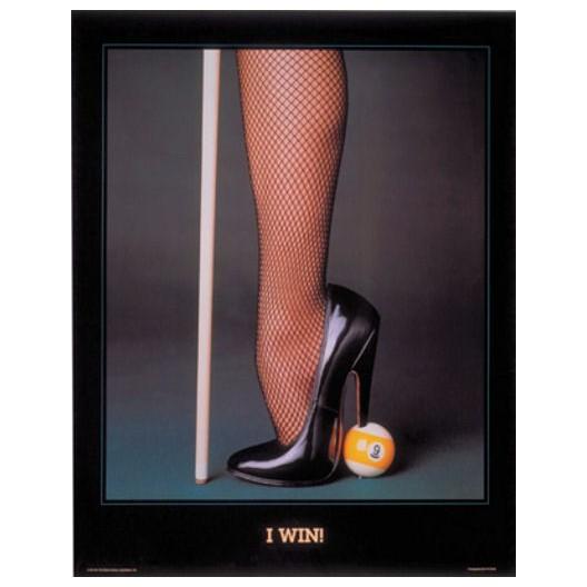 Постер для бильярда I Win, 61x87см.
