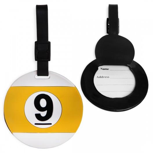 Брелок бирка именная Ball №9 резиновая