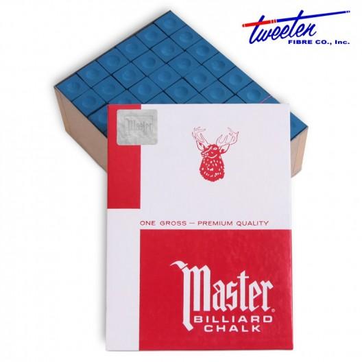 Бильярдный мел Master синий 144 шт.