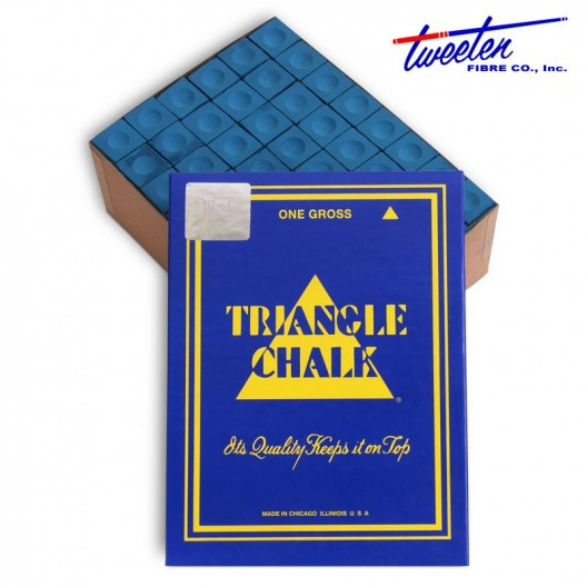 Бильярдный мел Triangle синий 144 шт.