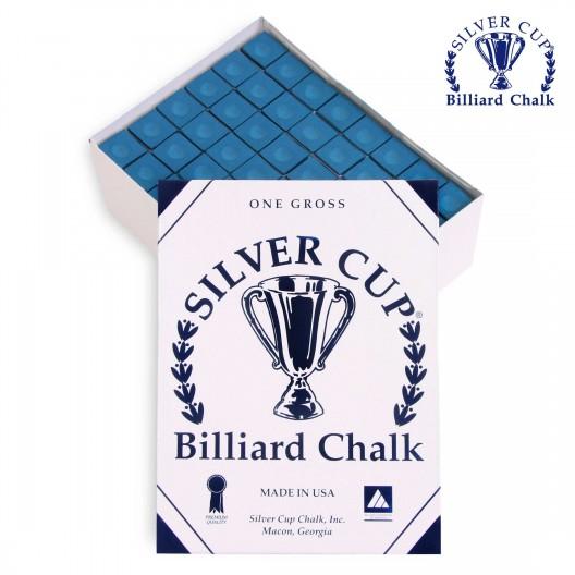 Бильярдный мел Silver Cup синий 144 шт.