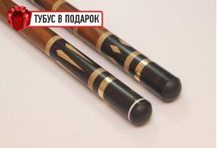 Эксклюзивный бильярдный кий ручной работы Чемпион макасар купить в интернет-магазине БильярдМастер Украина